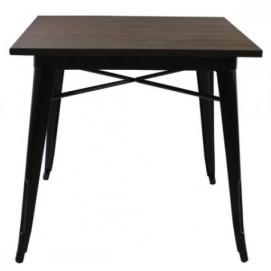 Стол обеденный Tolix MC-80х80 графит Primel