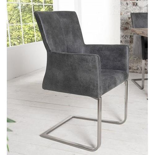 Кресло Aaron 95cm (Z35788) серое Invicta