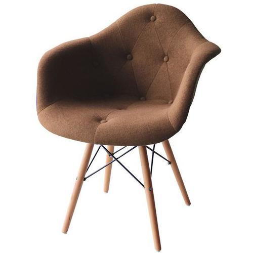 Кресло Paris wool коричневое шерсть ноги дерево Primel