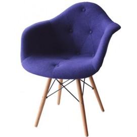Кресло Paris wool синее шерсть ноги дерево Primel