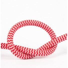 Провод в тканевой оплетке Красно белый X-ed