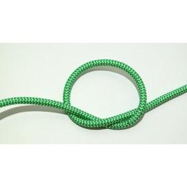 Провод в тканевой оплетке зелено-белый X-ed