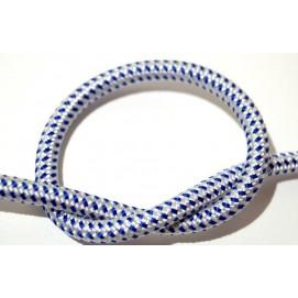 Провод в тканевой оплетке Бело-синий X-ed