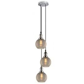 Лампа на подвесе NEW YORK LOFT No. 2 SCH/CO (LA035/CO_smoky_chrom) дымчатая Home Design