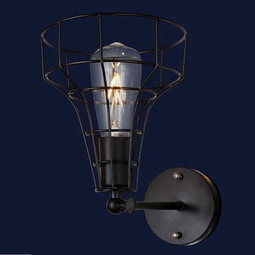 Светильник настенный 707W108-1 BK черный-09 Thexata
