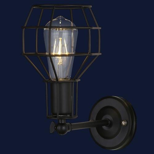 Светильник настенный 707W116-1 BK черный-09 Thexata