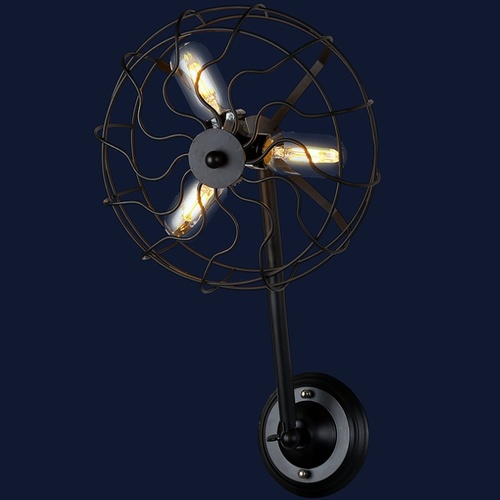 Светильник настенный 707W148-3 BK черный-09 Thexata