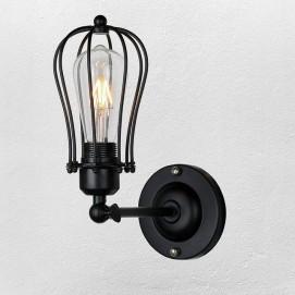 Светильник настенный 707W159-1 BK черный-09 Thexata