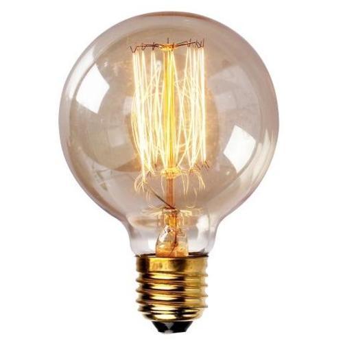 Лампочка Эдисона G95 40W 2700K Amber янтарное стекло Thexata