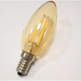 LED  лампочка C35 4W 2700K Amber янтарное стекло Thexata