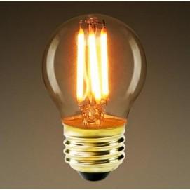 LED лампочка Эдисона G45 4W 2700K Amber янтарное стекло Thexata