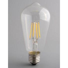 LED лампочка ST64 6W 2700K Clean прозрачное стекло Thexata