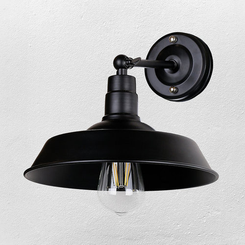 Светильник настенный 707W134-1 BK черный Thexata