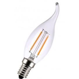 LED лампочка C35L 4W 2700K Clean прозрачное стекло Thexata