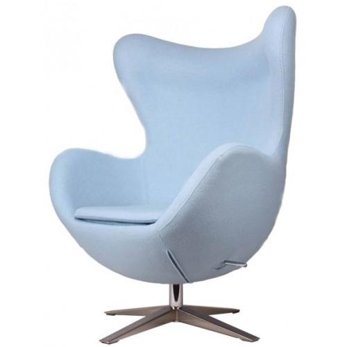 Кресло Egg ткань голубой Primel