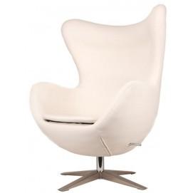 Кресло Egg кожзам белое Primel