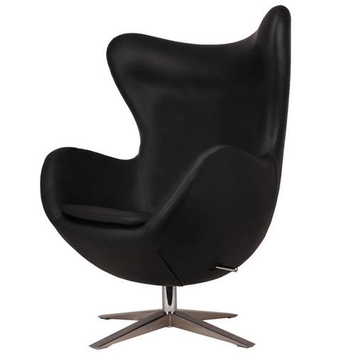 Кресло Egg кожзам чёрное Primel