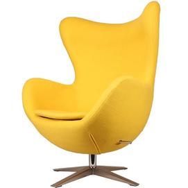 Кресло Egg ткань желтое Primel