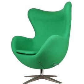 Кресло Egg ткань зеленое Primel