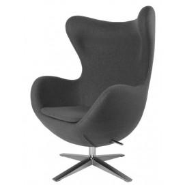 Кресло  Egg серое ткань (D_2702) Home Design высота 112 см