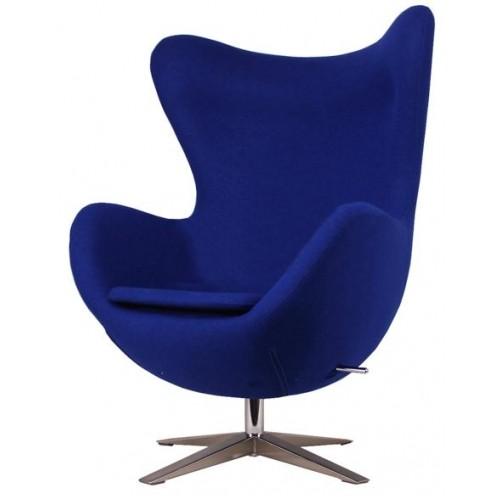 Кресло Egg ткань синее Primel