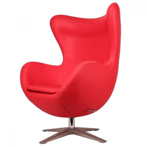 Кресло Egg кожзам красное Primel