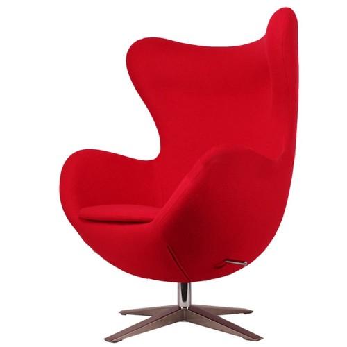 Кресло Egg ткань красное Primel