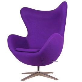 Кресло Egg ткань фиолетовое Primel
