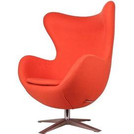 Кресло Egg ткань оранжевое Primel