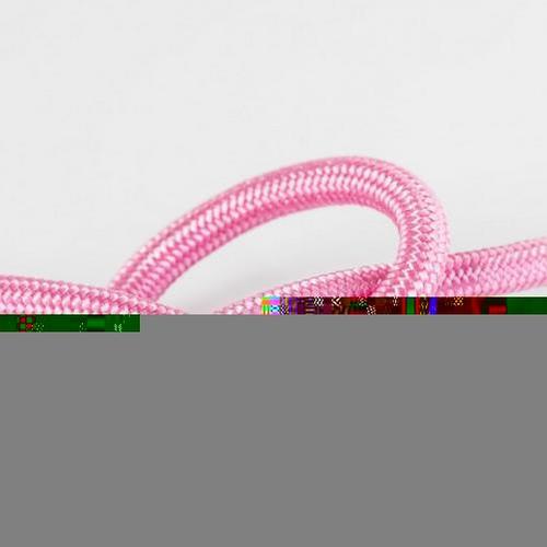 Провод в тканевой оплетке арт.309 розовый Pikart