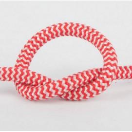 Провод в тканевой оплетке арт.308 красно-белый Pikart