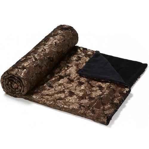 Плед AA0830J10 - CUBES Manta 120x160 см коричневый Laforma