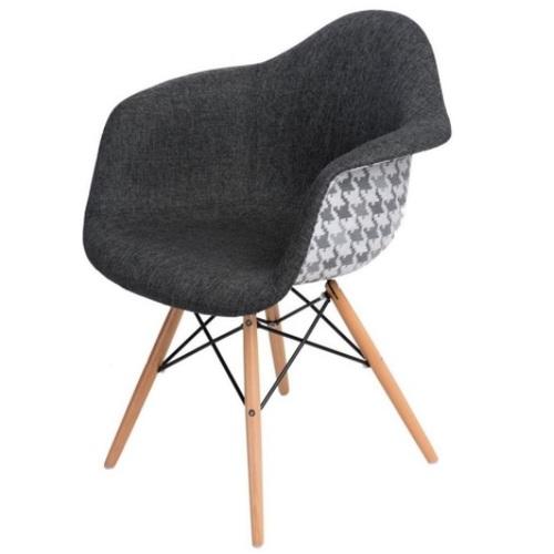 Кресло Paris fabric DCV1-77 серое ноги дерево Primel