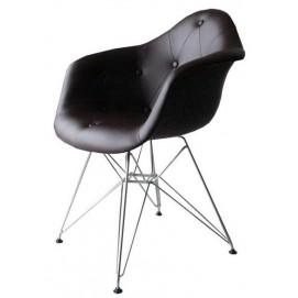 Кресло Paris PVC кожзам тёмно-коричневый ноги деерво Primel