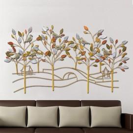 """Кованное панно """"Золотой сад"""", P6-1 56х109 см Clock цветное"""
