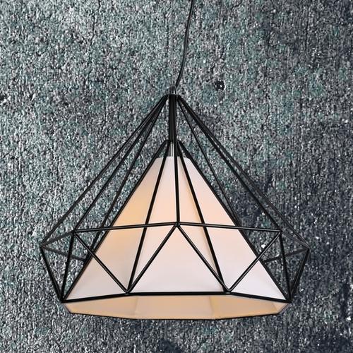 Лампа подвесная 7527317-1 BK(450) черно-белая Thexata