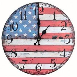 Часы настенные США цветные Clok