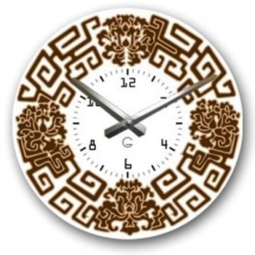 """Часы настенные """" Греческая тарелка"""" белые Clok"""