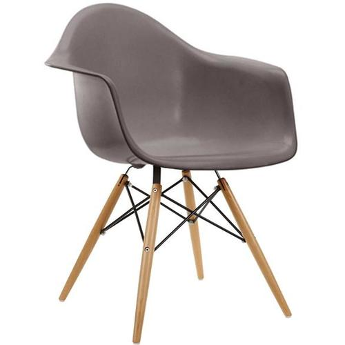Кресло AC-018W серое Kordo ноги дерево
