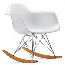 Кресло-качалка PC-018R белое Kordo ноги дерево