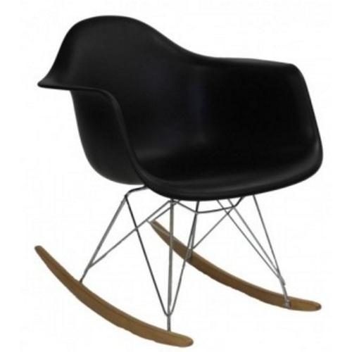 Кресло-качалка PC-018R черное Kordo ноги дерево