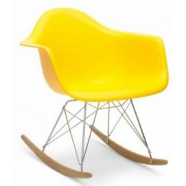 Кресло-качалка PC-018R желтое Kordo ноги дерево
