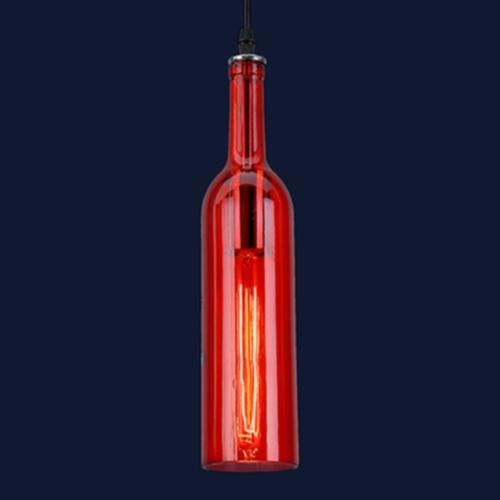 Лампа подвесная 758D843-1 RED красная Thexata