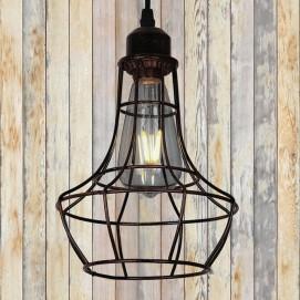 Лампа подвесная 746WXA035-1 BK+BR черная Thexata