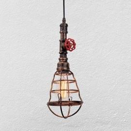 Лампа подвесная 758D894-1 коричневая Thexata