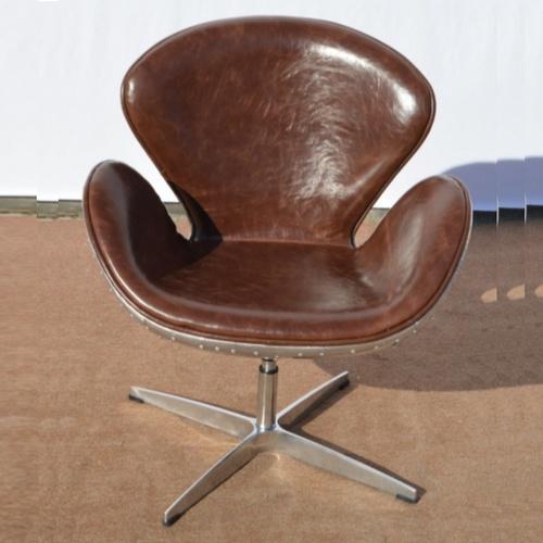 Кресло кожаное IMFOT06 коричневое Indy