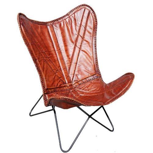 Кресло бабочка HS-68-IMKRZE51 коричневое Indy