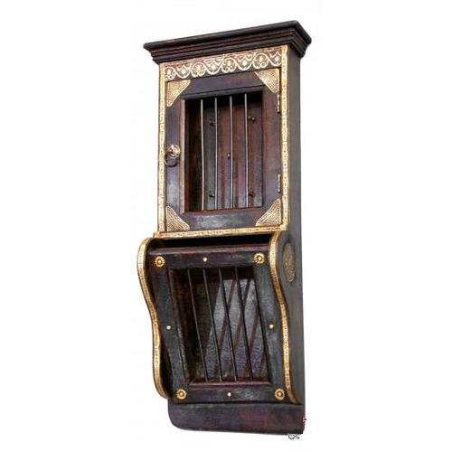 Шкаф навесной HS-61-S017 коричневый Indy
