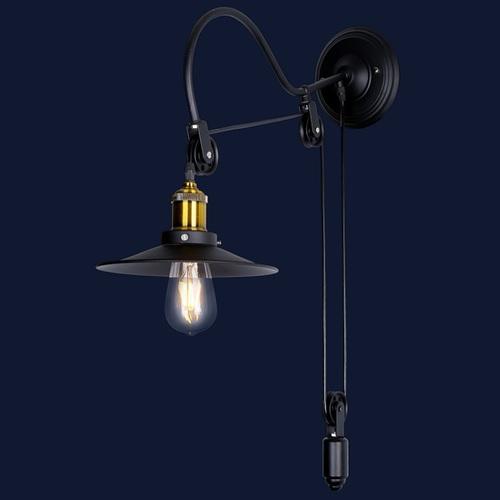 Светильник настенный 759Y6028-1 BK черный Thexata