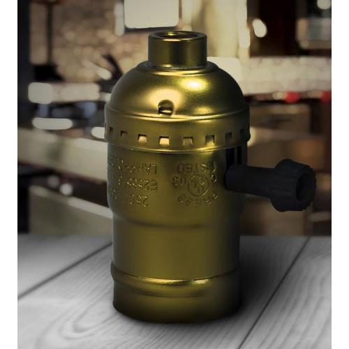 Патрон электрический К 2207-1 золото Loft